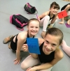 Ballet students make encouragement cards for those in chemo