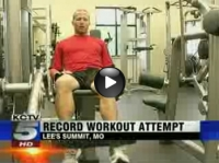 Record-breaking attempt to workout for 30 consecutive hours - KCTV TV